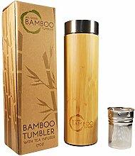 Bambus-Becher mit Tee-Ei & Sieb | isolierter