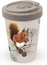 Bambus Becher To Go Squirrel in Winter