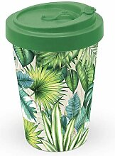 Bambus Becher To Go Tropical Leaves Urban Jungle