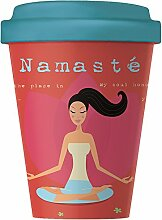 Bambus Becher Yoga Love 400 ml