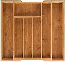 Bambus Besteckkasten ausziehbar für Schubladen