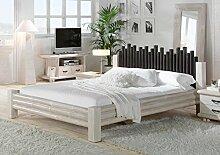Bambus Bett 160x200 Weiß CABANA exotisches Bett