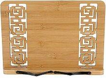 Bambus Buchständer, hohl geschnitzt verstellbare