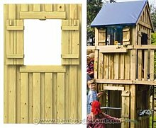 bambus-discount.com Spielturm Wandelement mit