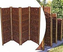 bambus-discount.com Trennwand mobil aus Weiden,
