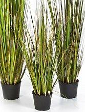 Bambus Gras 90 cm, große Kunstpflanze hochwertig, Grass bamboo Deko-Pflanze wie ech