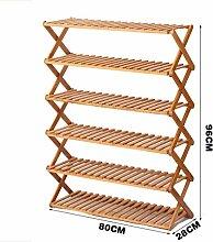 Bambus-holz-dateien Schuhregal,folding Shoe Rack