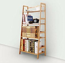 Bambus kleine Bücherregal Büro Boden Leiter Rack