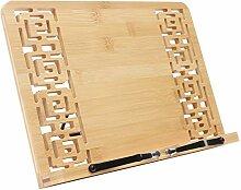 Bambus kochbuchhalter - Faltbar buchständer (33.5