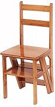 Bambus Leiterstuhl Leiter Stuhl Home Kreativ Multifunktion Vier Schichten Leiter Drinnen Leitern ( Farbe : 2# )