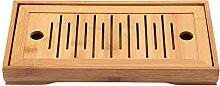 Bambus Mini Teeserviertablett Chinesische Gongfu
