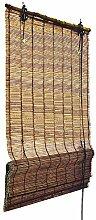 Bambus Raffrollo 100 cm breit und 160 cm lang in braun - Fenster Sichtschutz Rollos von Sol Royal in TOP QUALITÄT