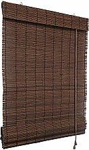 Bambus-Raffrollo 120 x 220cm, dunkelbraun - Fenster Sichtschutz Rollos - VICTORIA M