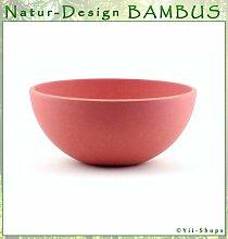 BAMBUS Schüssel 24cm Naturfarbe ROT