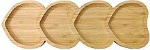 Bambus Servierteller Servierplatte Dessert Snack
