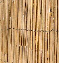 Bambus-Sichtschutz aus Leisten Bambusmatte - 4m