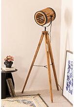 Bambus Stativ Stehlampe Schwarz-Natürlich Sklum