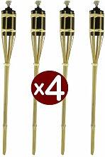 Bambus Taschenlampe 2FT, 4Stück