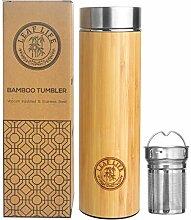 Bambus Tee Becher mit Sieb von leaflife,