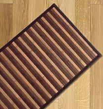 Bambus-Teppich, Farbverlauf, vielseitiger Läufer für Küche u.a., 55x 180braun