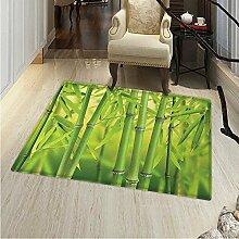 Bambus Teppich Nahaufnahme von Bambussprossen