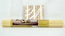 Bambus Tischläufer 48 x 180 cm, hell, mit Dekor,