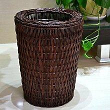 Bambus und Rattan Möbel Haushalt Badezimmer , 3l brown