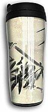 Bambus Vintage Design Reise Kaffee Becher