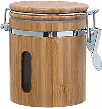 Bambus Vorratsdose Holz Vorratsbehälter Frischhaltedose Aufbewahrung Kaffeedose