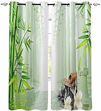 Bambus Waldstein Fenster Vorhänge für Wohnzimmer