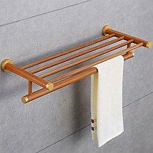Bambus Wand montiert Badezimmer Regal 2Layer