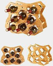 Bambus Weinregal geometrisches Design bietet Platz