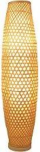 Bambus Wicker Rattan Shade Vase Stehleuchte