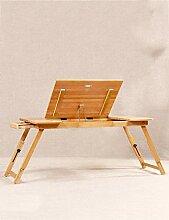 Bambusbett mit Laptop-Schreibtisch kann Lazy Table