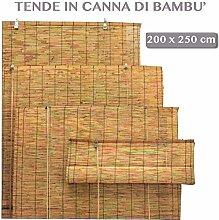 Bambusmatte mit Zugrolle, Sonnenschutz für den