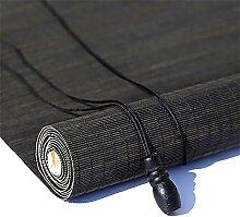 Bambusrollo- Black Fenster Sichtschutz Rollos,