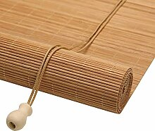 Bambusrollo- Carbonized Bamboo Roll Up Blind mit