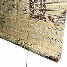 Bambusrollo Rollos Bambusvorhang mit Volant,
