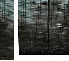 Bambusrollo Schwarz Roll Up Fenster-Vorhänge,