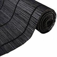Bambusrollo- Schwarze Sichtschutzjalousien mit