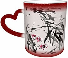 Bambusstängel Kirschblüte Sternenhimmel