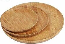 Bambusteller Bamboo Plates Holzteller Teller aus
