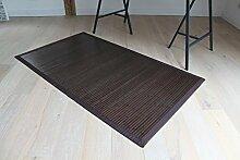 Bambusteppich Coffee 120x170cm, 17mm Stege, Breite