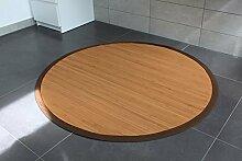 Bambusteppich Gentle 90cm rund, 17mm Stege, Breite