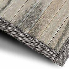 Bambusteppich Magenta (Natur) | für Bad und Wohnzimmer | natürlich wohnen mit 100% echtem Bambus | Bambusmatte in vielen Größen (90x120 cm)