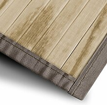Bambusteppich Magenta (Natur) | für Bad und