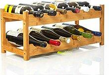 bambuswald© Weinregal für 12 Flaschen aus 100%