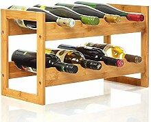 bambuswald© Weinregal für 8 Flaschen aus 100%