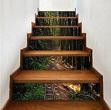 Bambuswaldtreppenaufkleber Entfernbare