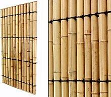 Bambuszaun mit vollen Rohren 180x90cm hier günstig kaufen - Sichtschutzwand Sichtschutz für Garten Terasse - Wind und Sonnenschutz